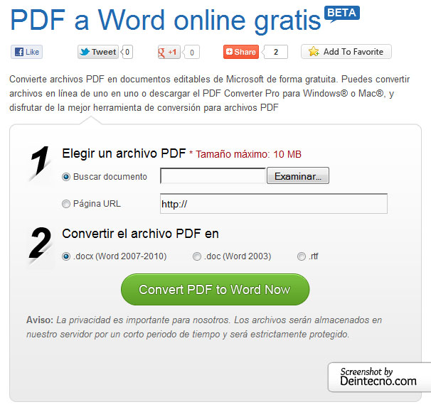 Free PDF to Word Online