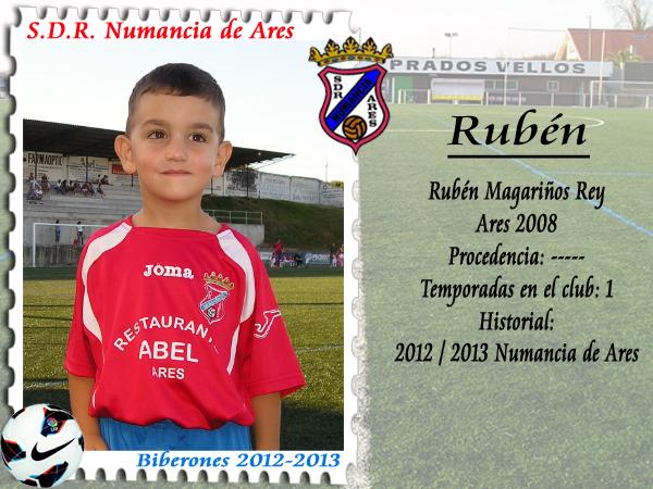 A.D.R. Numancia de Ares. Rubén