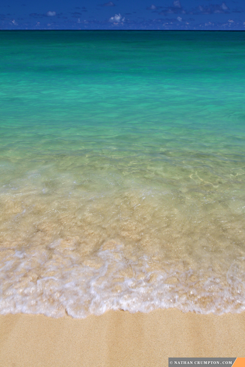 Nature's Color Gradient: Lanikai Beach, Hawaii. [OC][800 x 1,200]