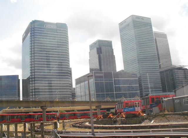 Canary Wharf as seen from Poplar