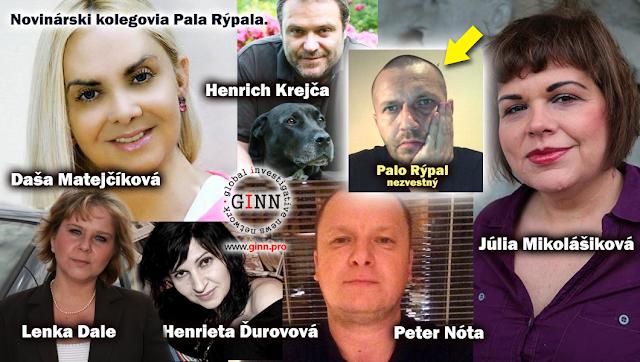 Novinarski kolegovia Pala Rýpala