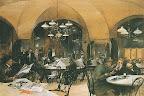 Café Griensteidl, de Reinhold Volkel, 1890