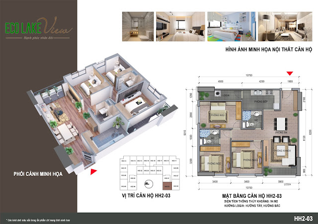 Thiết kế căn hộ 03 tòa HH-02 Eco Lake View