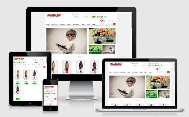 template blogspot tin tức bán hàng