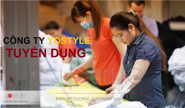 Cty Yostyle Tuyển Dụng Công Nhân May Công Nghiệp