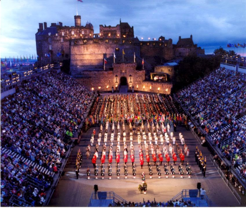 Edinburgh Military Tattoo in Edinburgh Midlothian   The annual