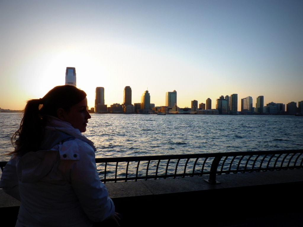 Atardecer en New Jersey desde Battery Park