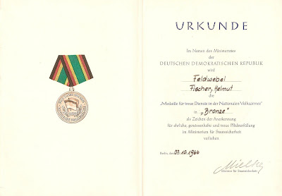 151f Medaille für treue Dienste in der Nationale Volksarmee für 5 Dienstjahre