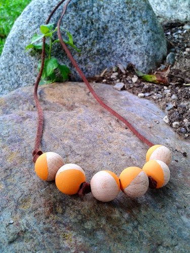 Not 2 late to craft: El repte Pinterest: collaret de boles / The Pinterest challenge: wooden beads necklace