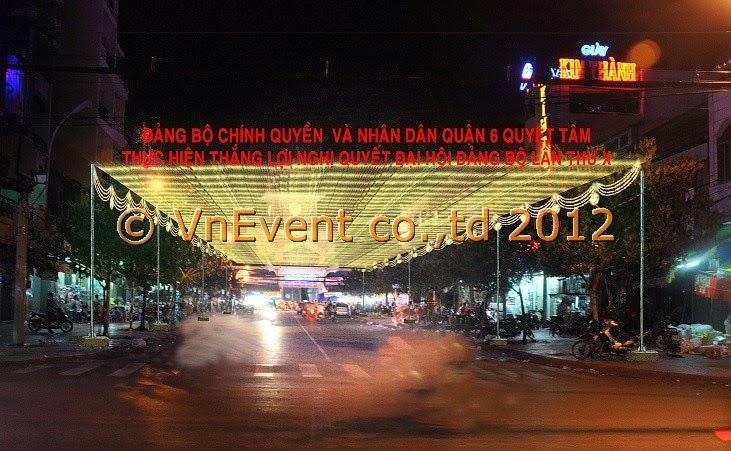 Giăng đèn trang trí - VnEvent 2012