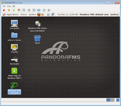 Descargar e instalar Pandora FMS como máquina virtual ESX o Workstation