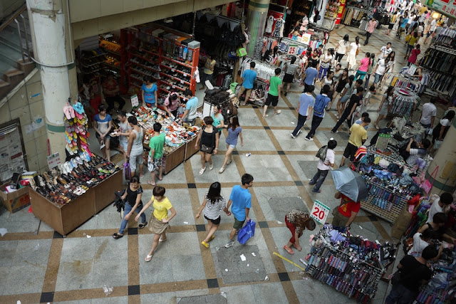 people shopping at Dongmen in Shenzhen, China