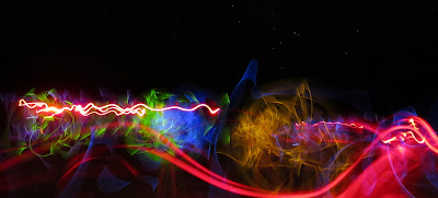 Kids light painting