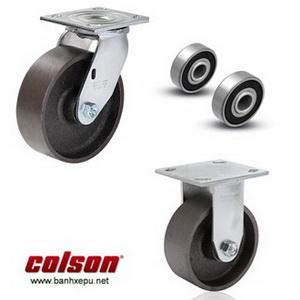 Bánh xe gang xám càng bánh xe đẩy mạ kẽm chịu tải (410~450kg)