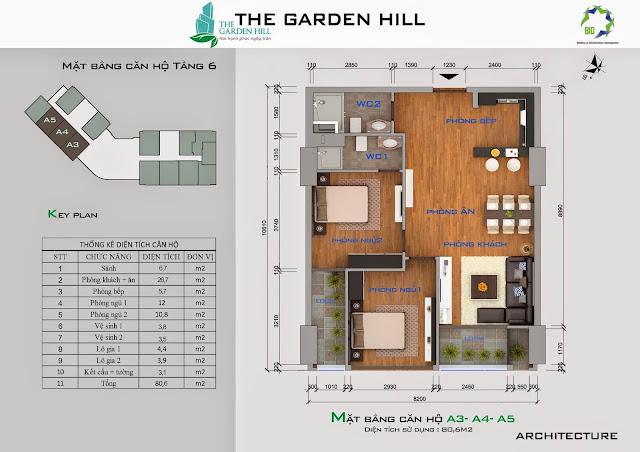 Căn A3, A4, A5 tầng 6 garden imperia - 99 trần bình