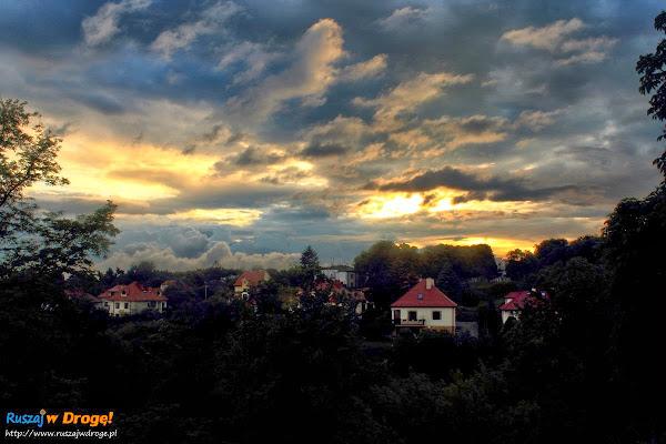 Sandomierz nad Wisłą - zachód słońca