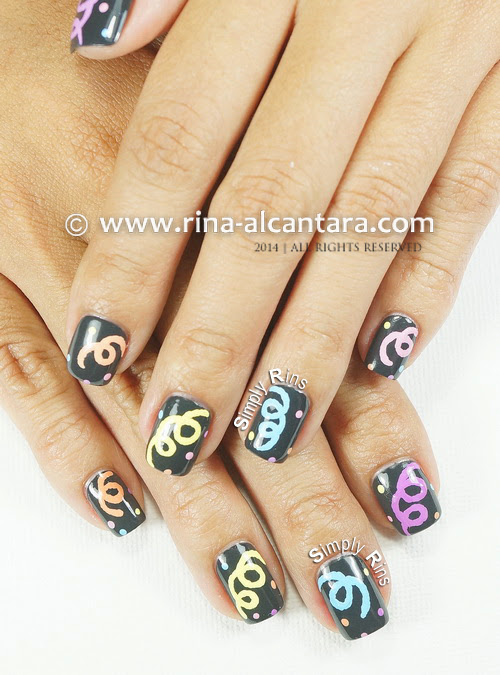 Welcoming 2014 Nail Art by Simply Rins