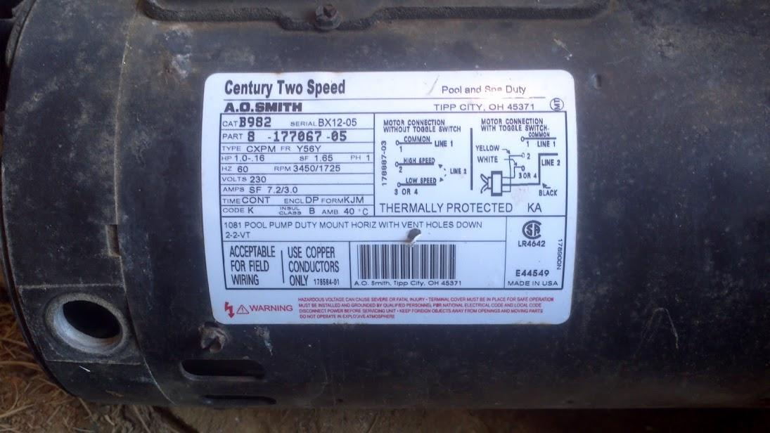 Need A New Pump Motor Upgrade Needed