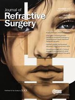 Pintura de Fernando Jimenez,portada de The journal of refractive surgery