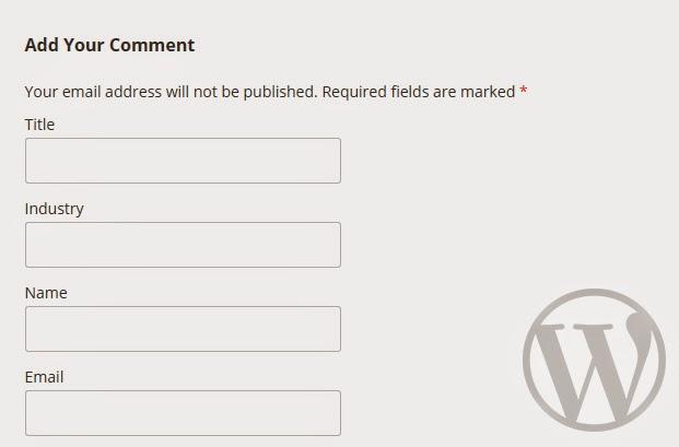 Thêm, xoá trường trong comment của wordpress