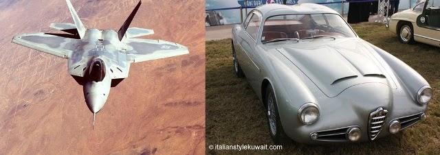 F-22 Raptor &1956 Alfa Romeo, 1900 Zagato Double Bubble