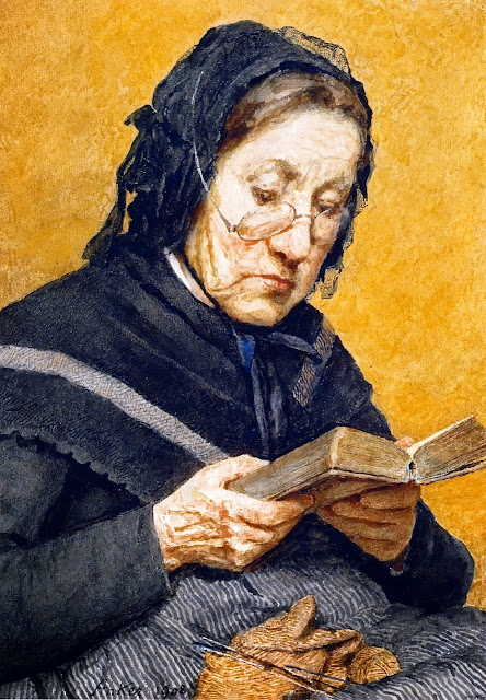 Albert Anker - A Peasant Woman Reading