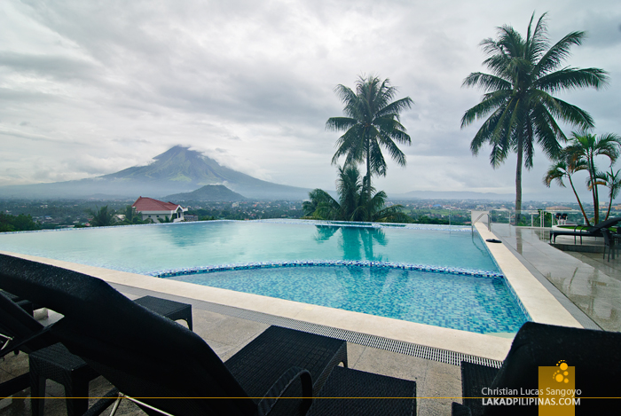 Infinity Pool Facing Mayon at Legazpi City's The Oriental Hotel