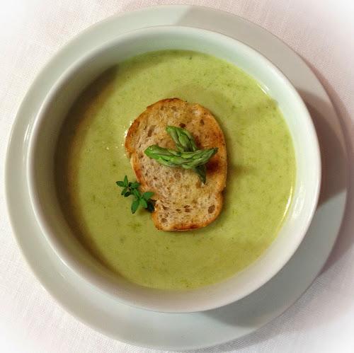 Zupa krem ze szparagów, szparagi,przepis,zupa