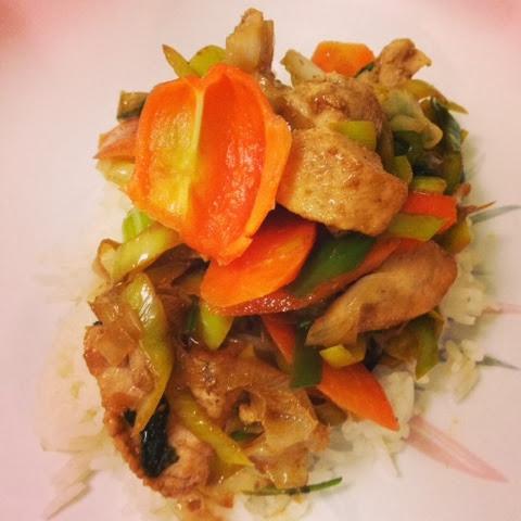 sweet kwisine, marlin, poisson, pôelée, légumes, carottes, poireaux,  gingembre, coriandre, cuisine minute, asiatique