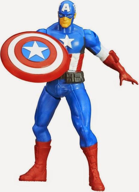 Đồ chơi mô hình Đội trưởng Mỹ Captian America xoay chân chiến đấu