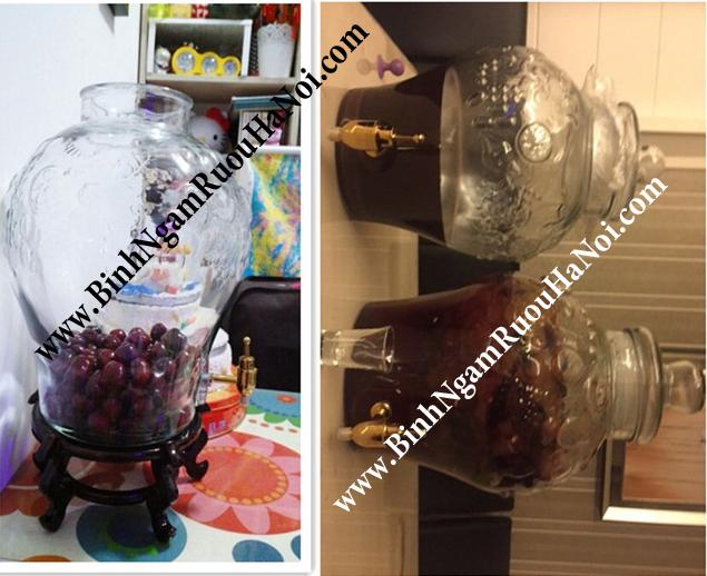 Bình chum rượu hoa văn HD96 có vòi 15 lít