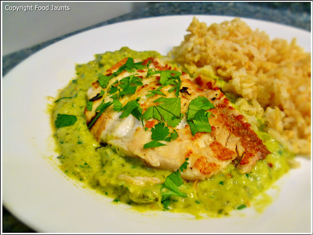 Grilled Fish with Avocado Sauce