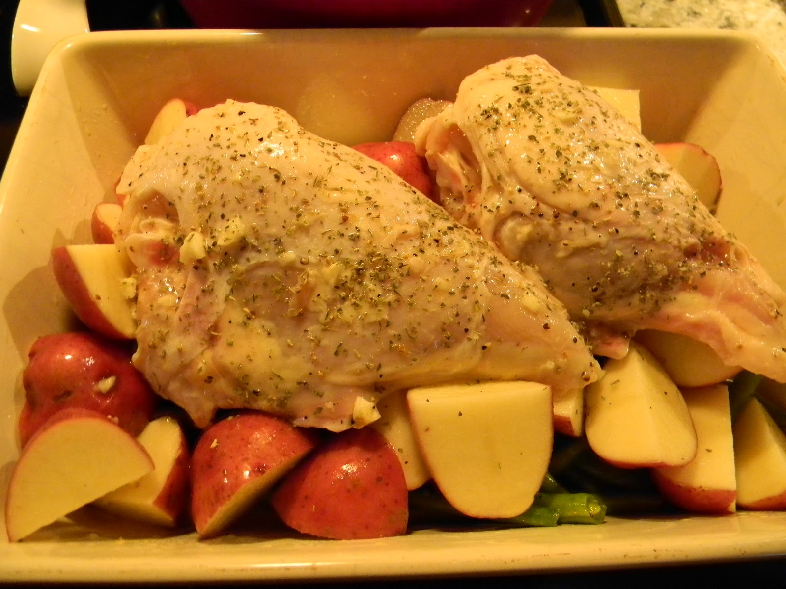 Pan Roasted Chicken With Lemon Garlic Green Beans And