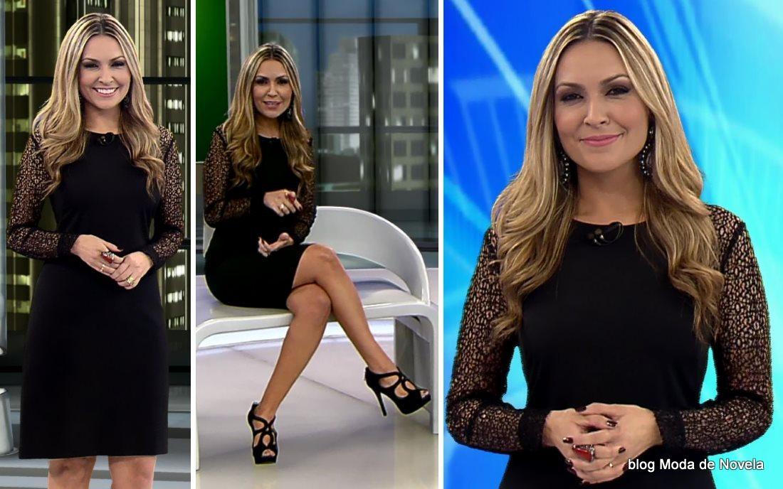 moda do programa Domingo Espetacular - look da Thalita Oliveira dia 3 de agosto