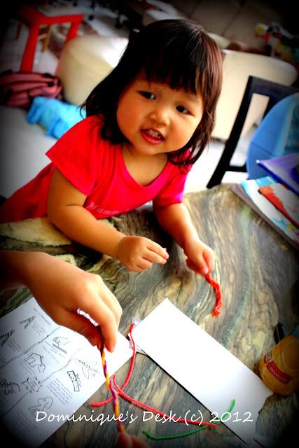 Tiger girl doing art