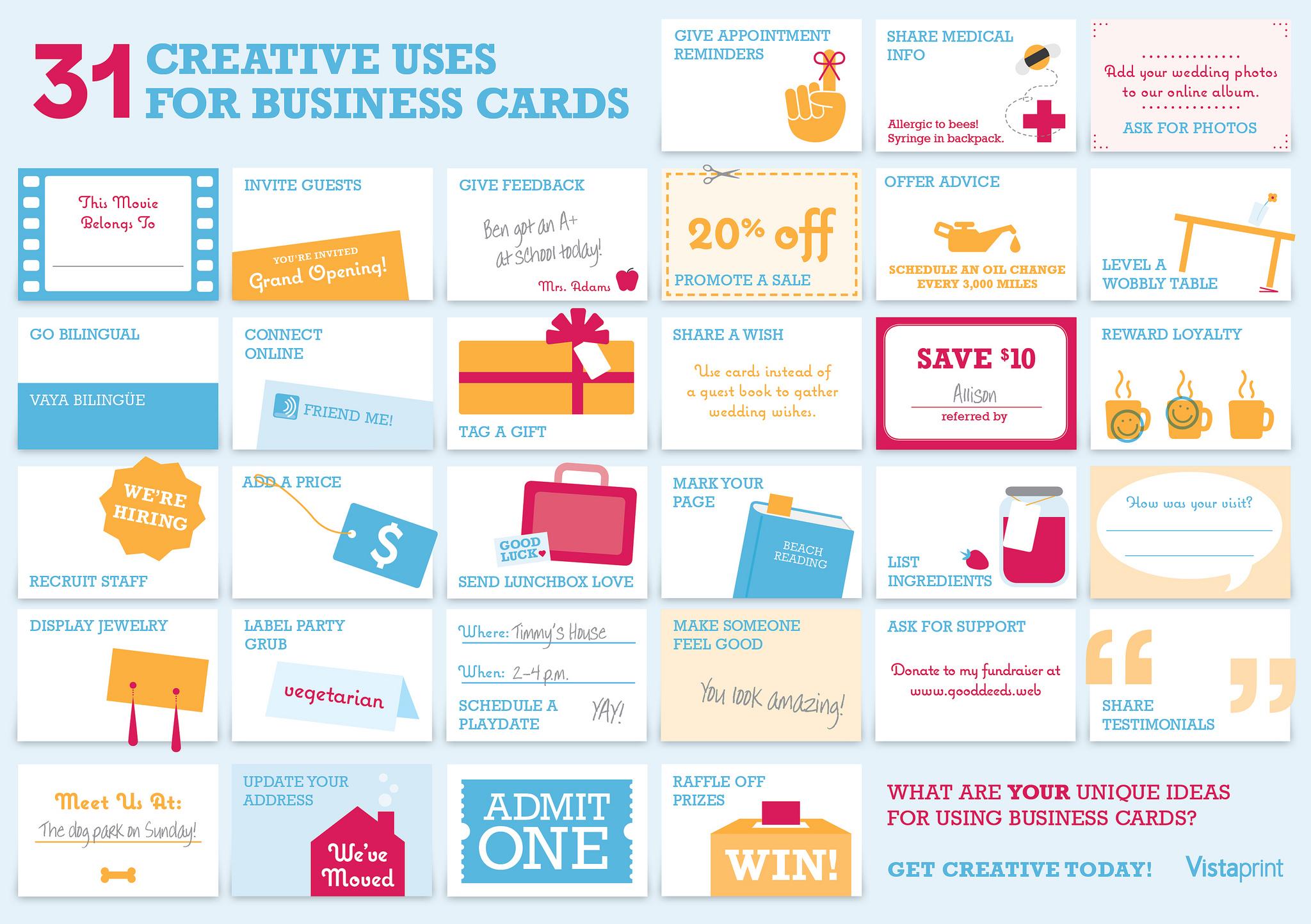 31 usos creativos para tus tarjetas de presentación
