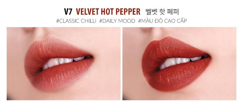 Moart Velvet Lip Tint V7 Velvet Hot Pepper