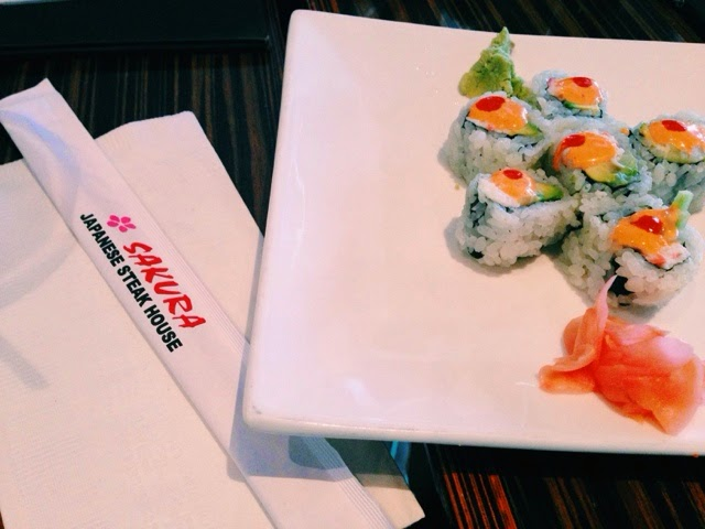 Sakura Japanese Steak House, California Roll, Spicy