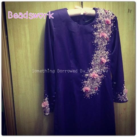 Beadswork ala baju Sheera Ayob!