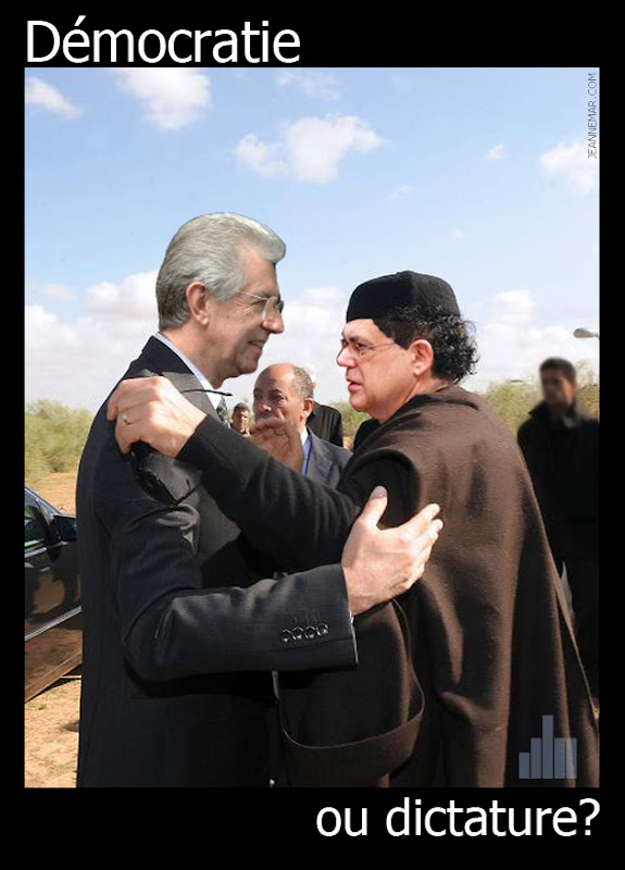 Mouammar Kadhafi, Bachar el-Assad, Lucas Papademos, Mario Monti, Italie Grèce... Démocratie ou dictature - Jean Némar