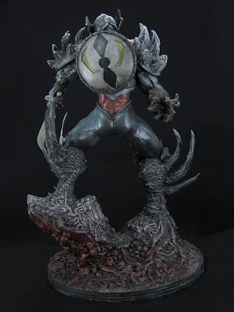 Spawn Lord Covenat modelado en masilla epoxica