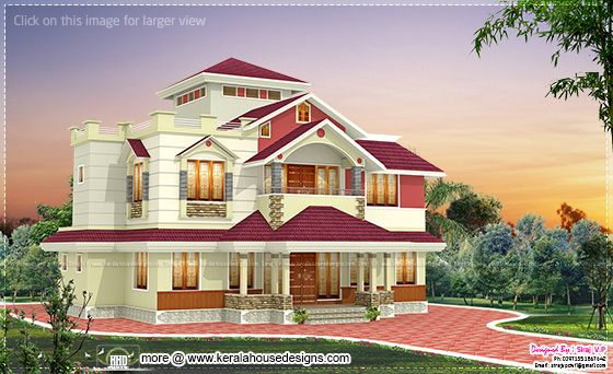 2215 square feet Kerala home