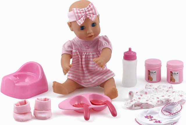 Bộ đồ chơi Baby dribbles Dolls World 8496 bao gồm rất nhiều đồ dùng cho Bé tập chăm em