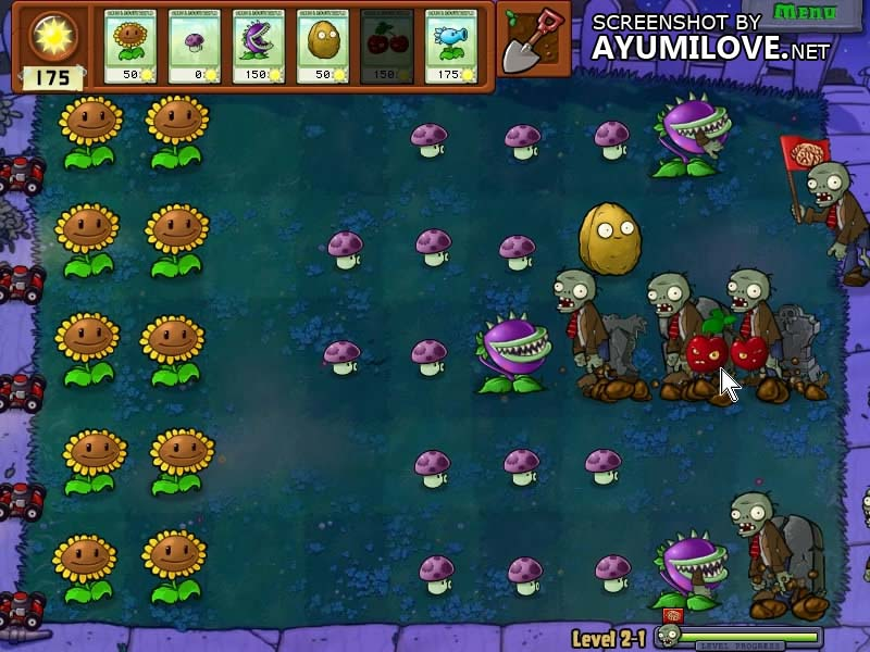 Plants vs Zombies Stage 2-1 Layout