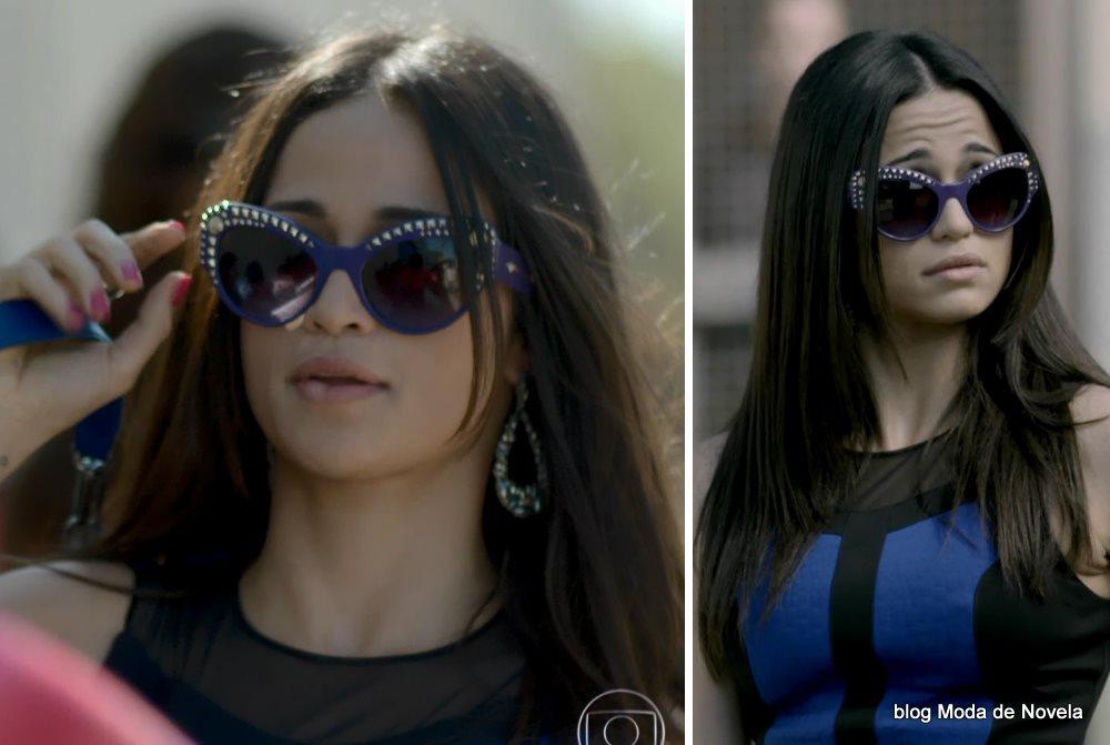 moda da novela Império - óculos da Tuane dia 6 de agosto