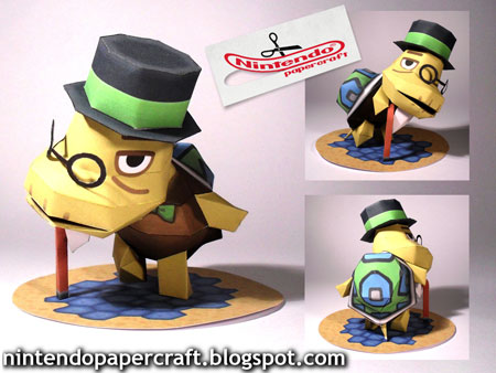 Animal Crossing Mayor Tortimer Papercraft