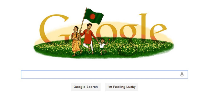 Google Doodle Celebrate Independence Day of Bangladesh