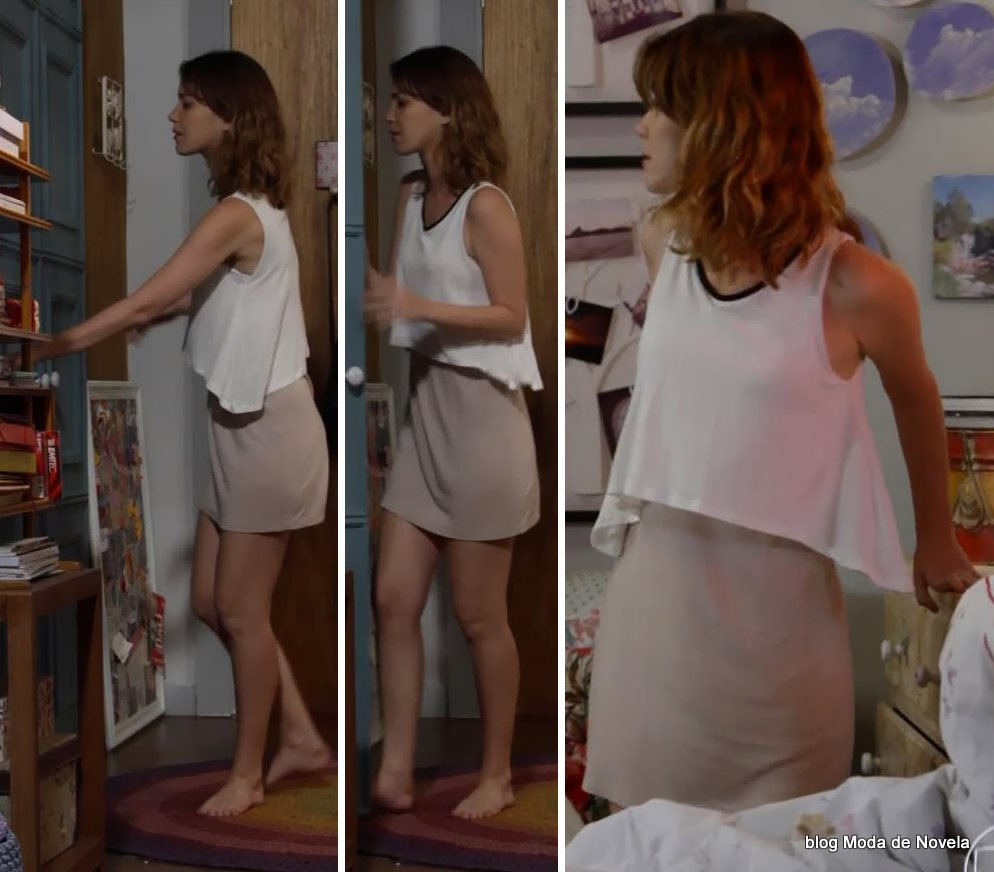 moda da novela Alto Astral, look da Laura dia 8 de novembro