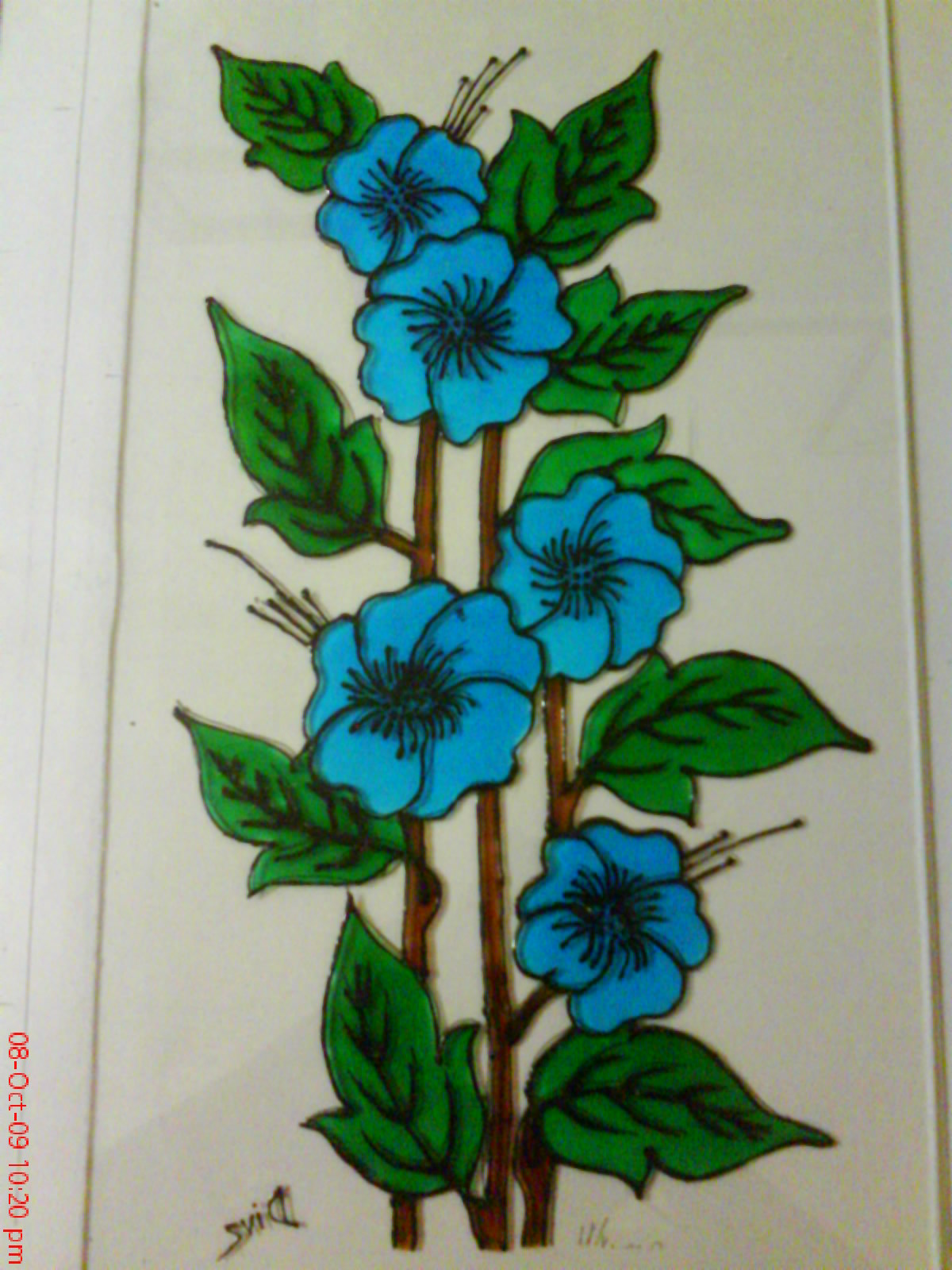 Simple Glass Pa... Easy Flower Designs For Glass Painting