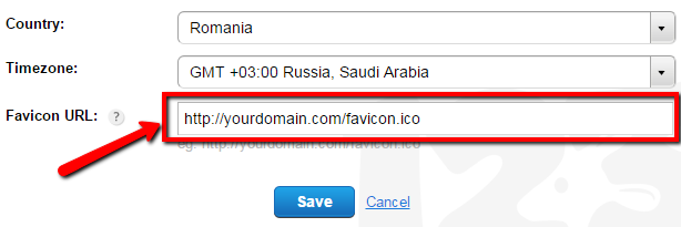 how to change favicon for 123FormBuilder